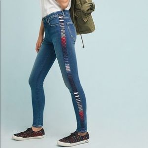 NWT Levi's 721 high rise embroidery skinny jeans